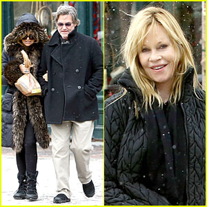 Goldie Hawn & Kurt Russell: Aspen Chat with Melanie Griffith!
