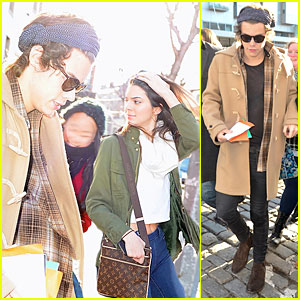 Harry Styles & Kendall Jenner Step Out of NYC Hotel T