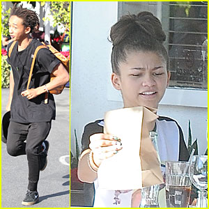 Jaden Smith & Zendaya: Table Mates at Mauro's Cafe!