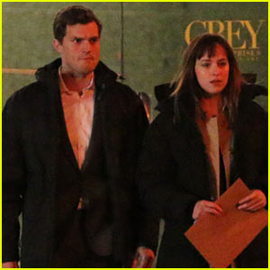 Jamie Dornan & Dakota Johnson: 'Fifty Shades of Grey' Night Rehearsa