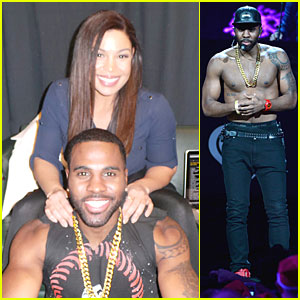 Jason Derulo: Backstage Massage from Jordin Sparks at Z100's Jingle Ball 2013 (Exclusive)!