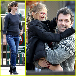 Jennifer Garner & Ben Affleck: Sunday Park Day with the Kids!