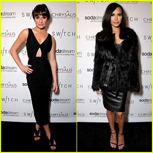 Lea Michele & Naya Rivera: Switch Boutique Holiday Party!