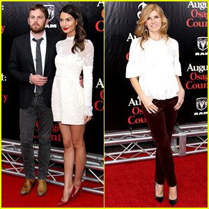 Lily Aldridge & Caleb Followill: 'August: Osage County' Premiere!