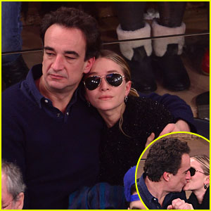 Mary-Kate Olsen & Olivier Sarkozy: Kissing at Knicks Game!