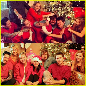 Miley Cyrus Shares Christmas 'Annual Fistfight' Family Picture!