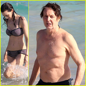 Paul McCartney: Shirtless Vacation with Wife Nancy Shevell!