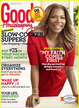 Queen Latifah Covers 'Good Housekeeping' Magazine January 2014