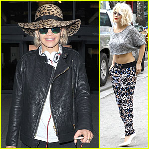 Rita Ora: London Arrival After Miami Midriff Baring Shoot!