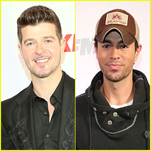 Robin Thicke & Enrique Iglesias: 106.1 KISS FM Jingle Ball!