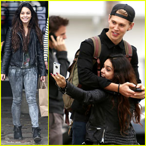 Vanessa Hudgens & Austin Butler Dance & Take Silly Selfies in a Parking Lot