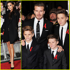 Victoria Beckham & Sons Support David Beckham at 'Class of 92' Premiere!