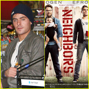 Zac Efron: New 'Neighbors' Poster with Seth Rogen!