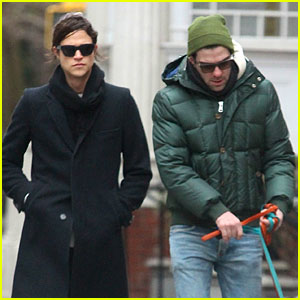Zachary Quinto & Boyfriend Miles McMillan Walk Their Dogs