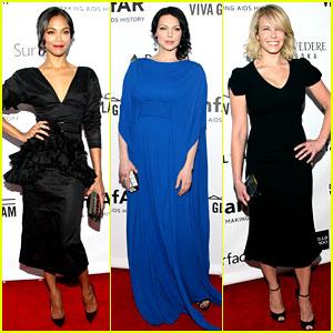 Zoe Saldana & Chelsea Handler: amfAR Inspiration Gala 2013!