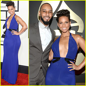Alicia Keys & Swizz Beatz - Grammys 2014 Red Carpet