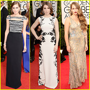 Allison Williams & Zosia Mamet - Golden Globes 2014