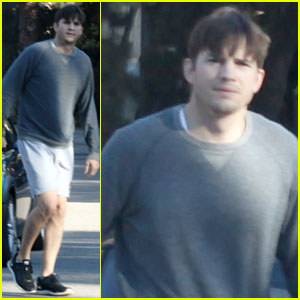 Ashton Kutcher: Sunday Morning Dog Duty