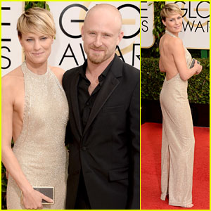 Ben Foster & Robin Wright - Golden Globes 2014 Red Carpet