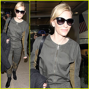 Cate Blanchett: LAX Arrival After NYFCC Awards Ceremony!