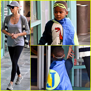 Charlize Theron Takes Her Superhero Jackson to Fit for Kids!