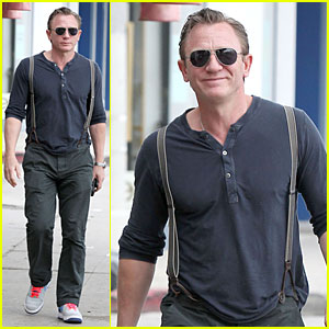 Daniel Craig Sports Trouser Suspenders For L.A. Outing!
