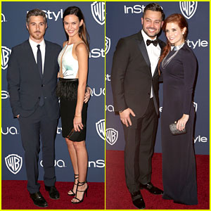 Dave & Odette Annable: InStyle Golden Globes Party 2014 with Joanna Garcia & Nick Swisher!