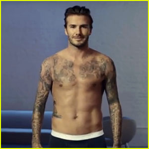 David Beckham: Shirtless in H&M Super Bowl Commercial Clip!