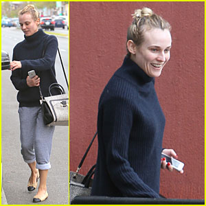 Diane Kruger: All Natural Beauty for Friday Workout!