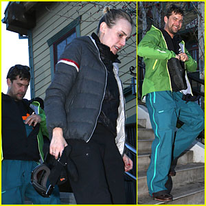 Diane Kruger & Joshua Jackson: Skiing Pair in Park City!