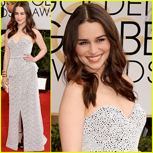 Emilia Clarke - Golden Globes 2014 Red Carpet
