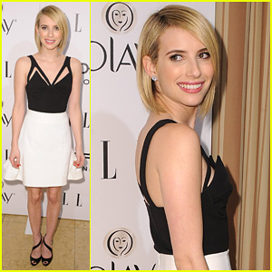 Emma Roberts Debuts New Haircut at Elle's Women in TV Celebration 2014