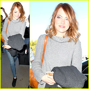 Emma Stone: LAX Arrival After Presenting at Golden Globes 2014