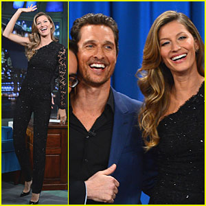 Gisele Bundchen & Matthew McConaughey: 'Jimmy Fallon' Guests!