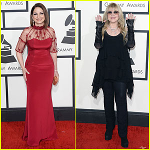 Gloria Estefan & Stevie Nicks - Grammys 2014 Red Carpet