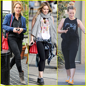 Hilary Duff: Cecconi's Lunch with Warner Music Exec!