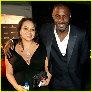 Idris Elba & Pregnant Girlfriend Naiyana Garth - Golden Globes 2014