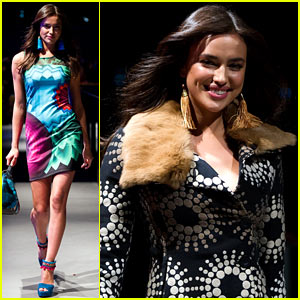 Irina Shayk Hits the Runway for Desigual's Fashion Show!