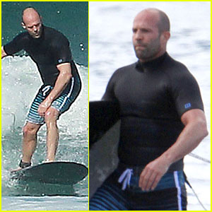 Jason Statham: Surfing Vacation in Hawaii!