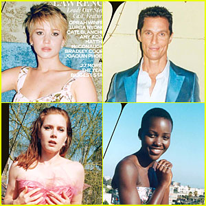Jennifer Lawrence, Matthew McConaughey, & More Cover 'W'