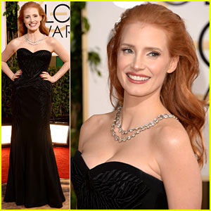 Jessica Chastain - Golden Globes 2014 Red Carpet