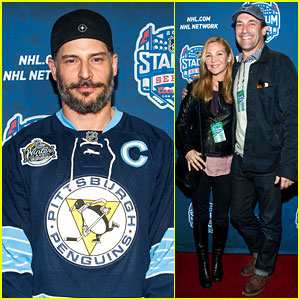 Jon Hamm & Joe Manganiello: NHL Stadium Series Event!