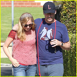 Jon Hamm Stays Comfy in Sweatpants for Morning Dog Walk