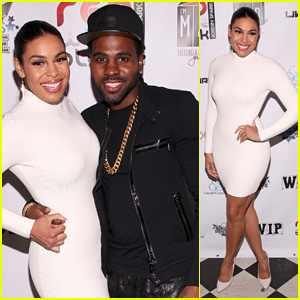 Jordin Sparks & Jason Derulo: Red, White & Black Super Bowl Party!