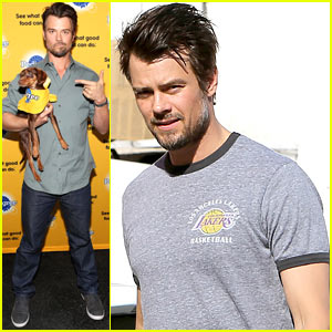 Josh Duhamel Advocated for Rescue Dogs at Sundance