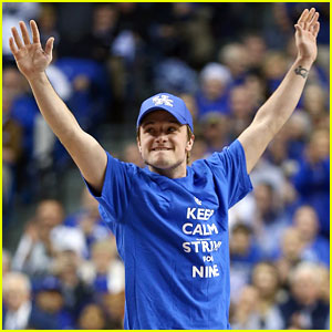 Josh Hutcherson Gets Greeted with District 12 Salute at Kentucky Wildcats Game
