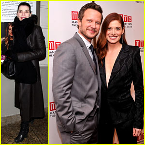 Julianna Margulies Supports Debra Messing's Opening Night!