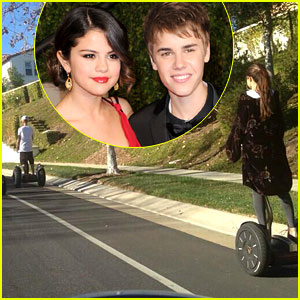 Justin Bieber & Selena Gomez Ride Segways Together (Photo)