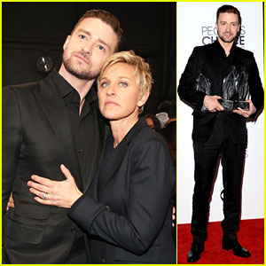 Justin Timberlake's People's Choice Award Almost Stolen By Ellen DeGeneres!