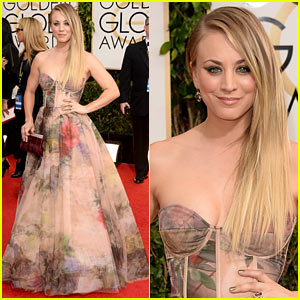 Kaley Cuoco - Golden Globes 2014 Red Carpet